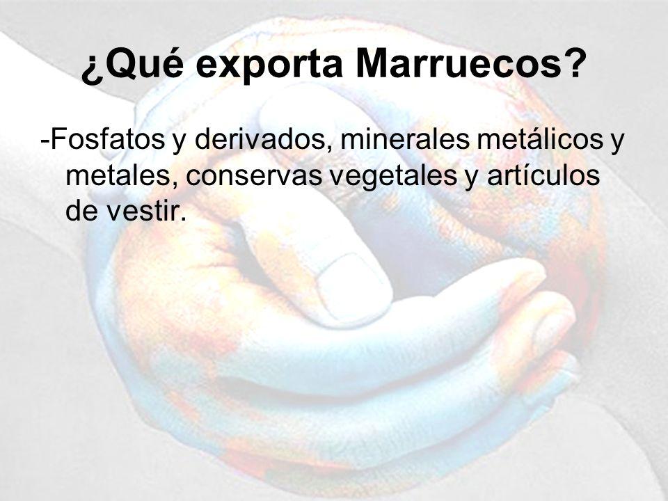 ¿Qué exporta Marruecos