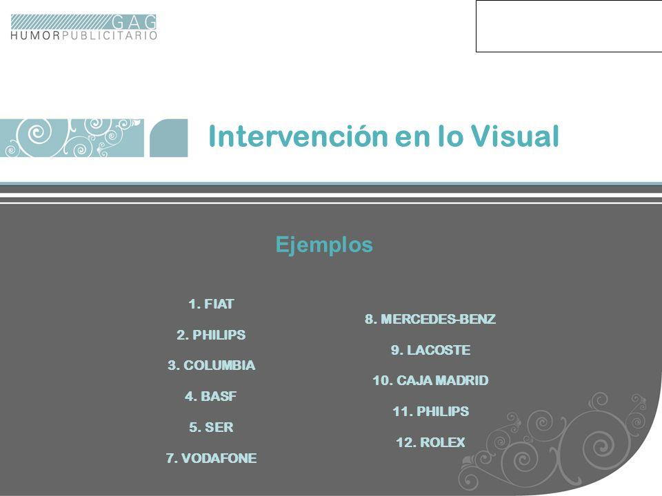 Intervención en lo Visual