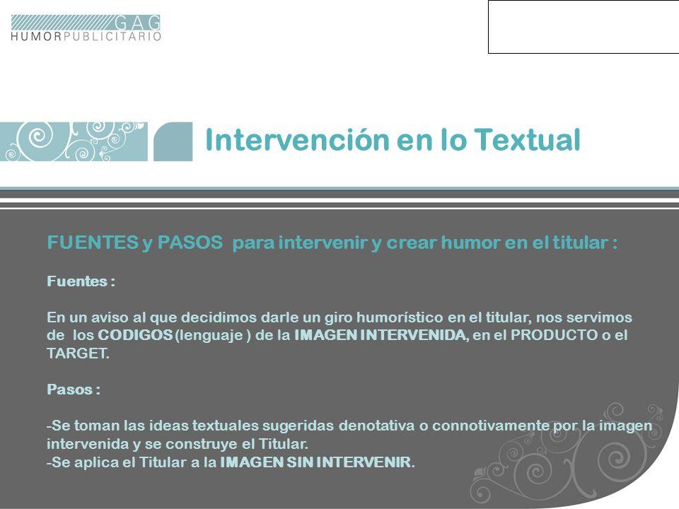 Intervención en lo Textual