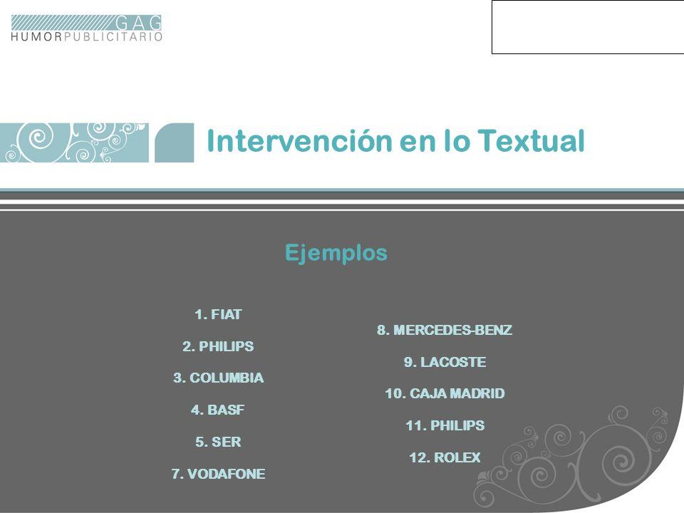 ejemplos Intervención en lo Textual Ejemplos