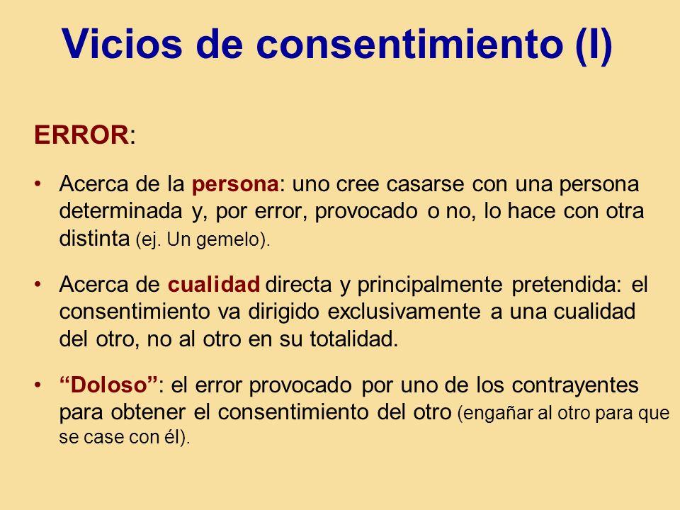 Vicios de consentimiento (I)