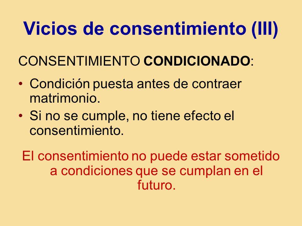 Vicios de consentimiento (III)