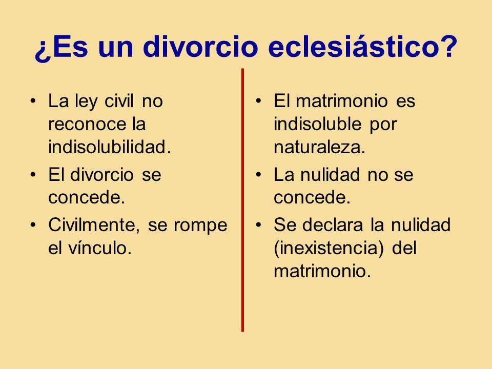 ¿Es un divorcio eclesiástico