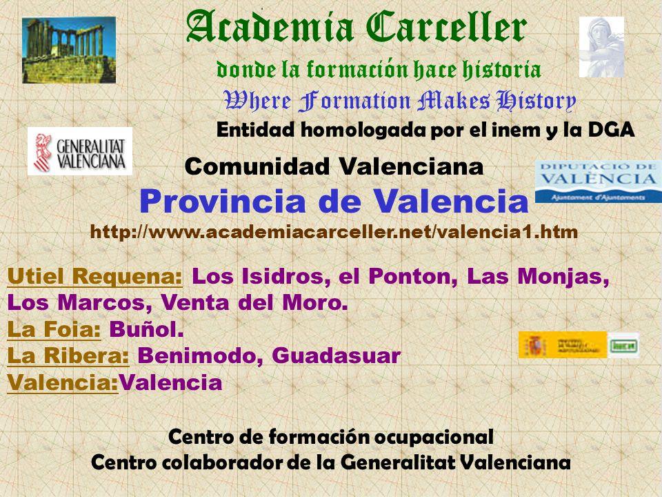 Academia Carceller Provincia de Valencia