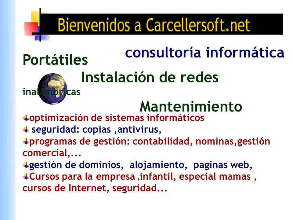 consultoría informática Portátiles Instalación de redes inalámbricas