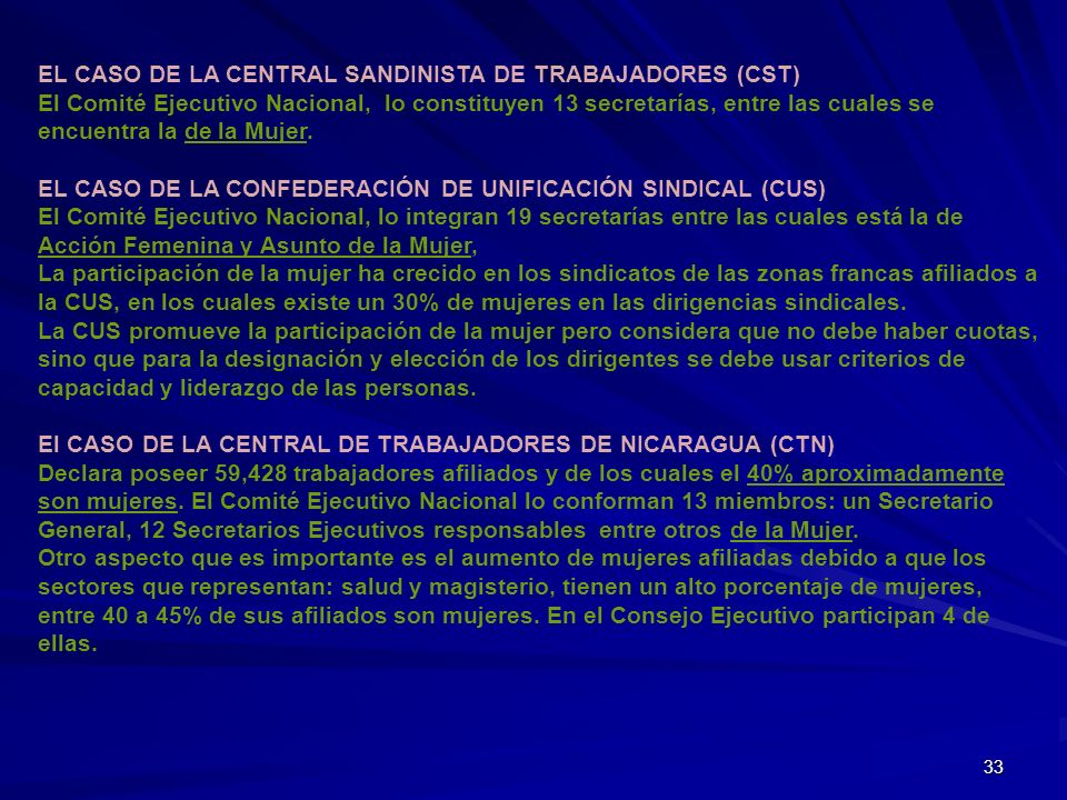 EL CASO DE LA CENTRAL SANDINISTA DE TRABAJADORES (CST)