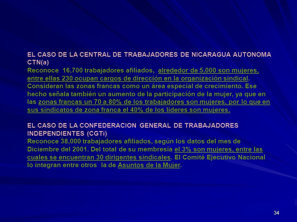 EL CASO DE LA CENTRAL DE TRABAJADORES DE NICARAGUA AUTONOMA CTN(a)