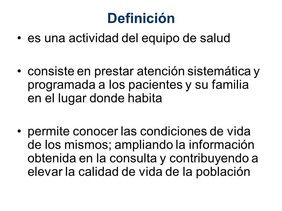 Definición es una actividad del equipo de salud