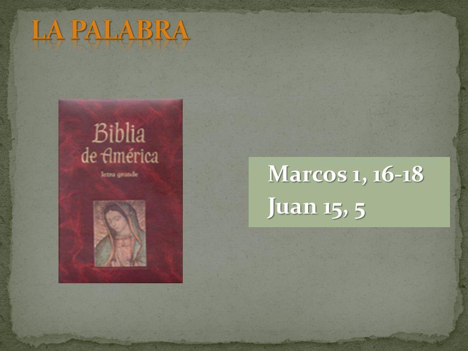 LA PALABRA Marcos 1, 16-18 Juan 15, 5