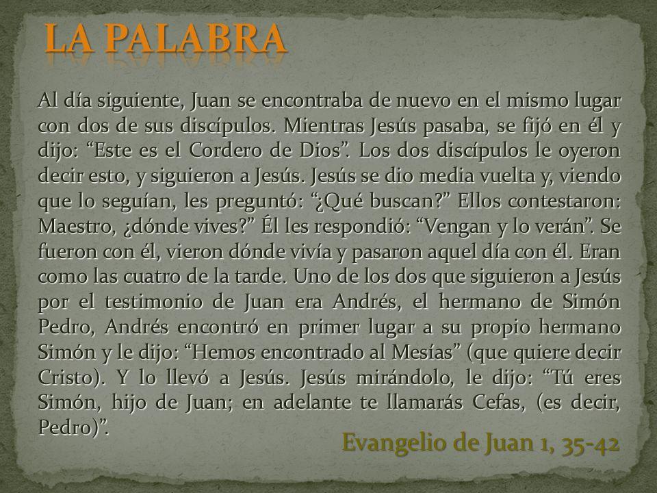 LA PALABRA Evangelio de Juan 1, 35-42