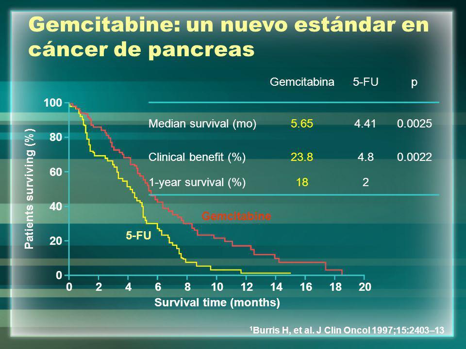 Patients surviving (%) Survival time (months)