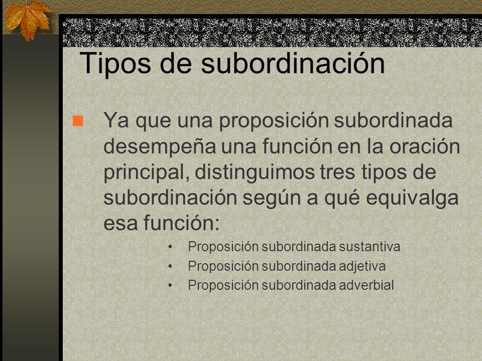 Tipos de subordinación