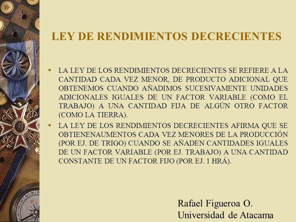 LEY DE RENDIMIENTOS DECRECIENTES
