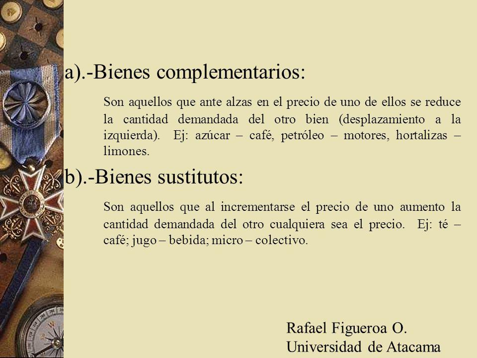 a).-Bienes complementarios: