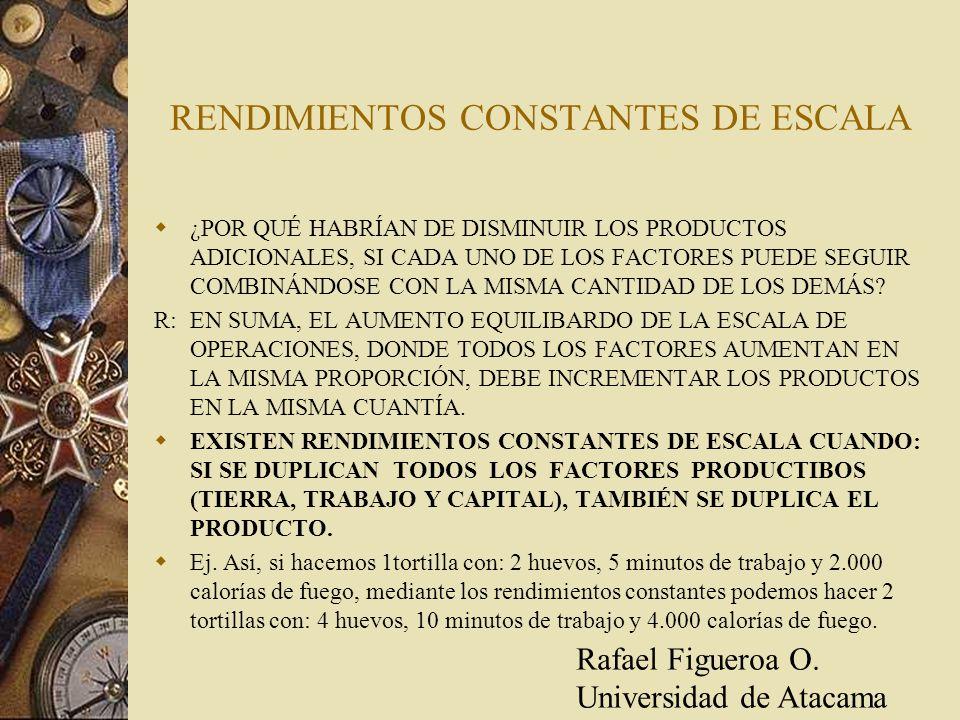 RENDIMIENTOS CONSTANTES DE ESCALA
