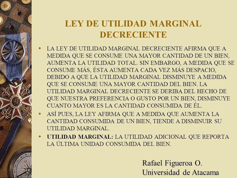 LEY DE UTILIDAD MARGINAL DECRECIENTE