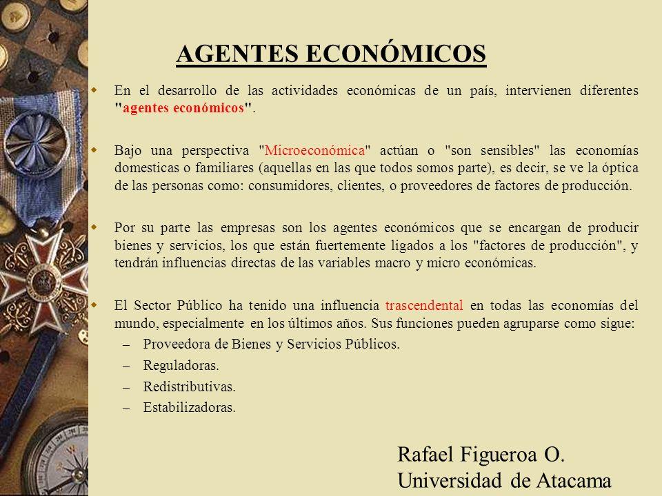 AGENTES ECONÓMICOS Rafael Figueroa O. Universidad de Atacama