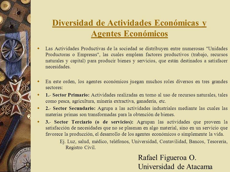 Diversidad de Actividades Económicas y Agentes Económicos