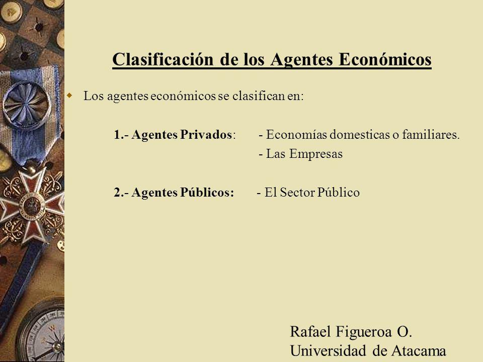 Clasificación de los Agentes Económicos