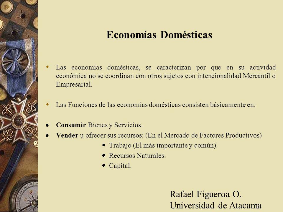 Economías Domésticas Rafael Figueroa O. Universidad de Atacama