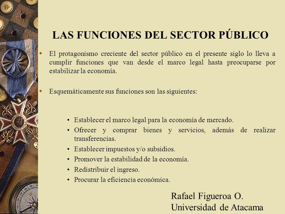 LAS FUNCIONES DEL SECTOR PÚBLICO