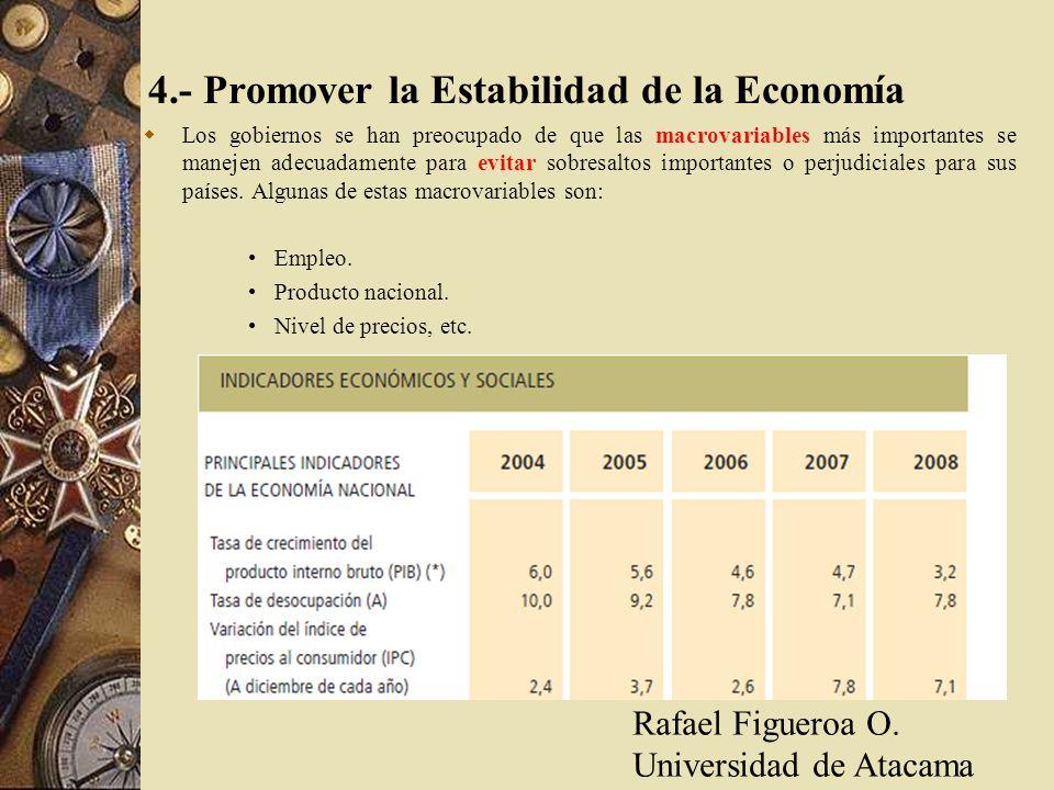 4.- Promover la Estabilidad de la Economía