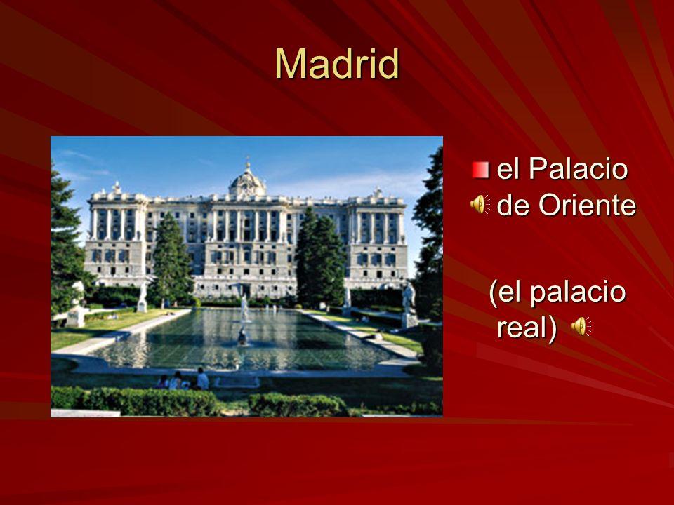 Madrid el Palacio de Oriente (el palacio real)