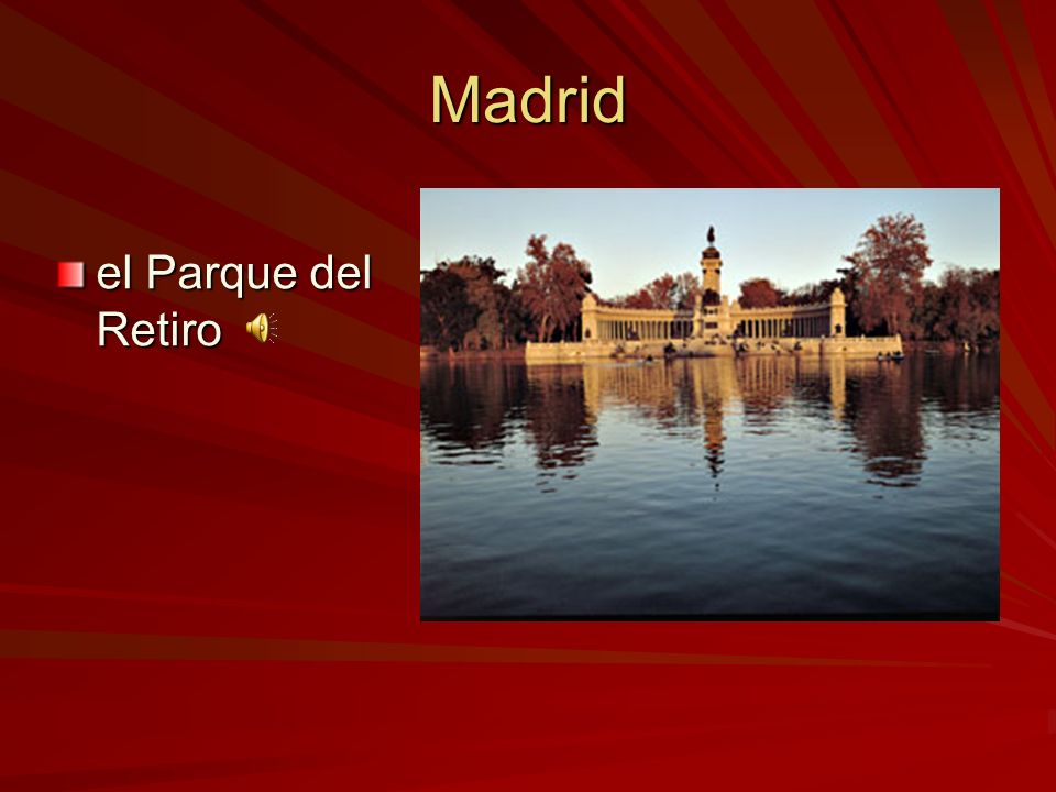 Madrid el Parque del Retiro