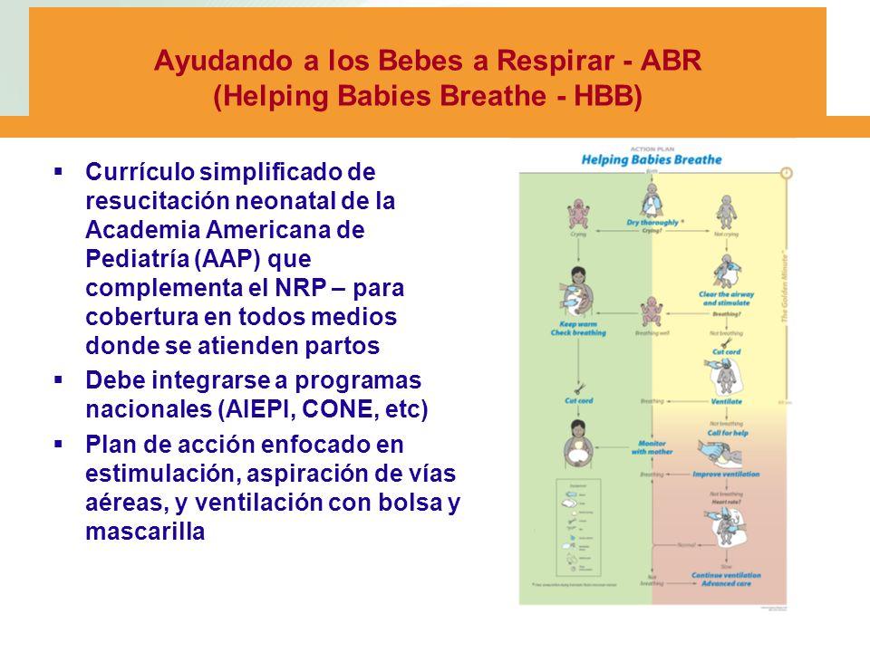 Ayudando a los Bebes a Respirar - ABR (Helping Babies Breathe - HBB)