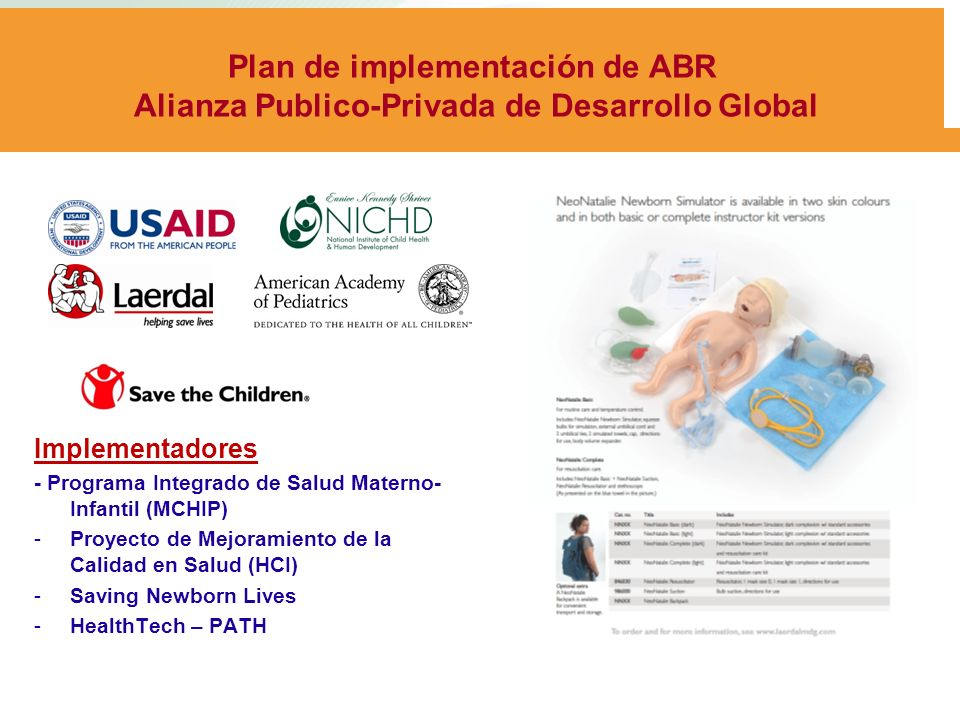 Plan de implementación de ABR Alianza Publico-Privada de Desarrollo Global