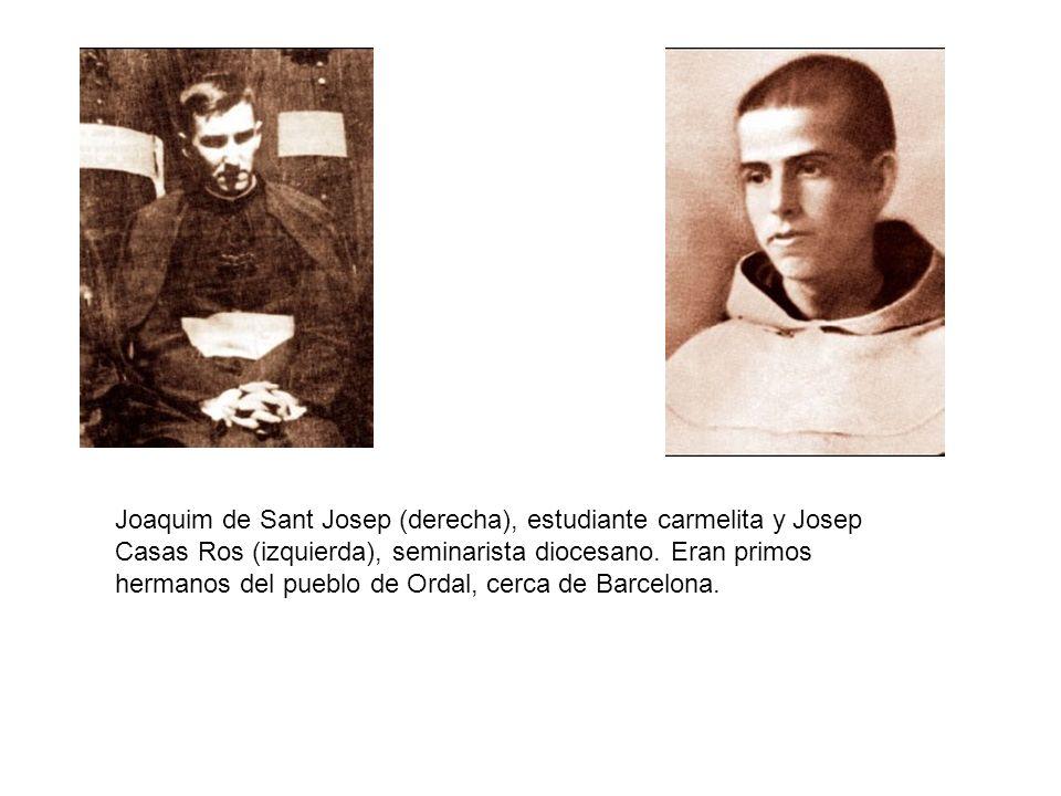 Joaquim de Sant Josep (derecha), estudiante carmelita y Josep Casas Ros (izquierda), seminarista diocesano.