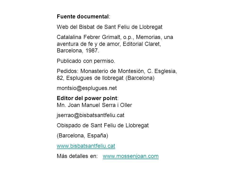 Web del Bisbat de Sant Feliu de Llobregat