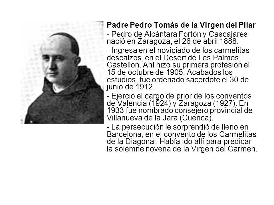 Padre Pedro Tomás de la Virgen del Pilar