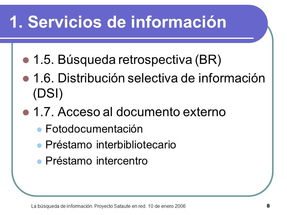 1. Servicios de información