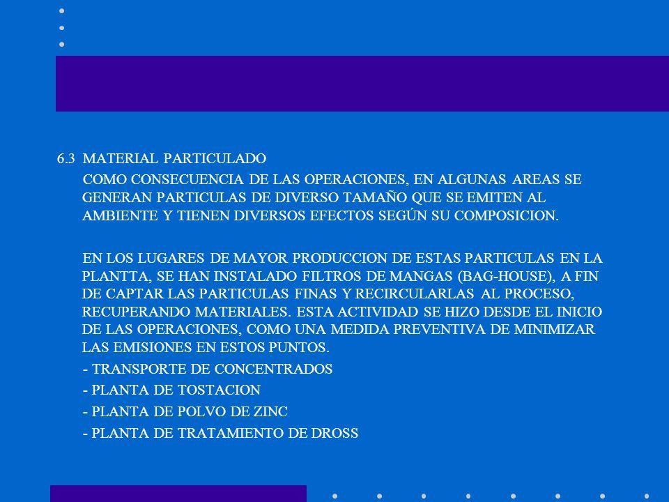 6.3 MATERIAL PARTICULADO