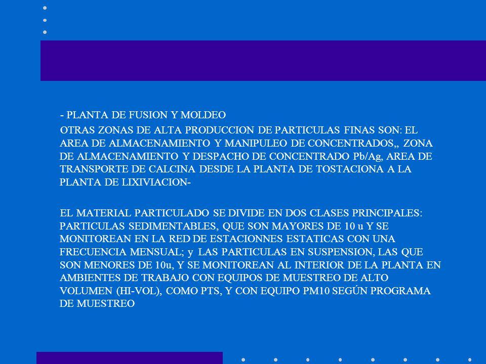- PLANTA DE FUSION Y MOLDEO