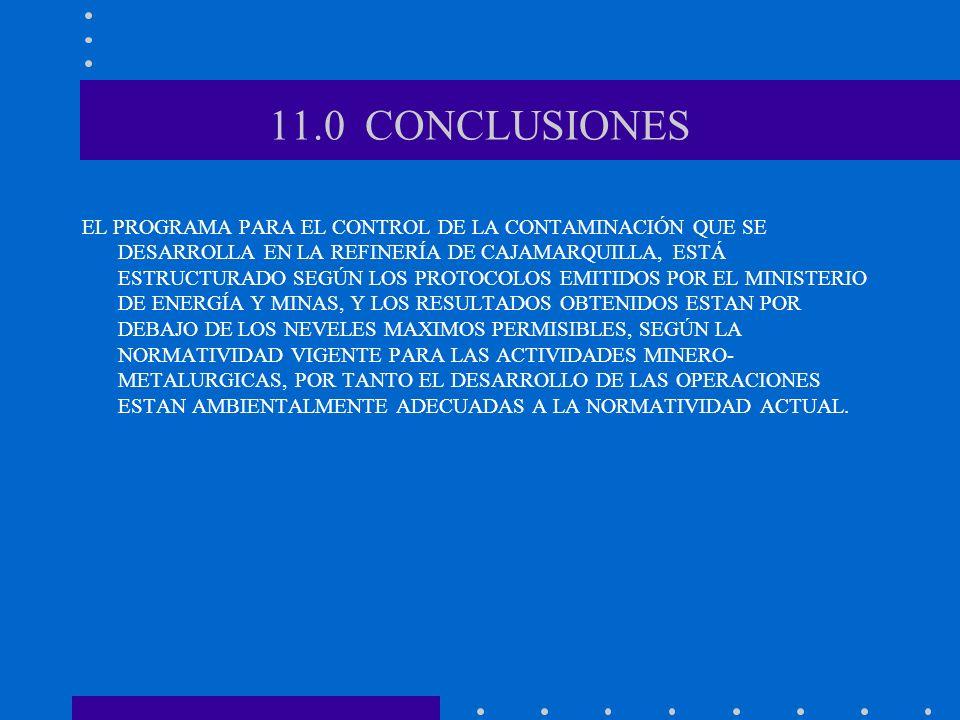 11.0 CONCLUSIONES