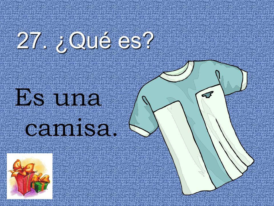 27. ¿Qué es Es una camisa.