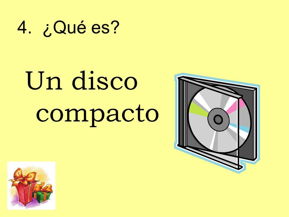 4. ¿Qué es Un disco compacto