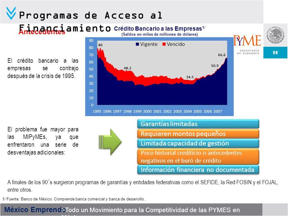 Programas de Acceso al Financiamiento