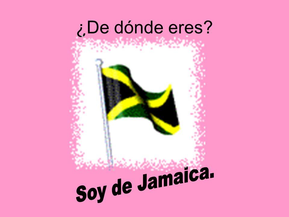¿De dónde eres Soy de Jamaica.