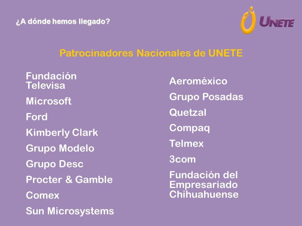 Patrocinadores Nacionales de UNETE