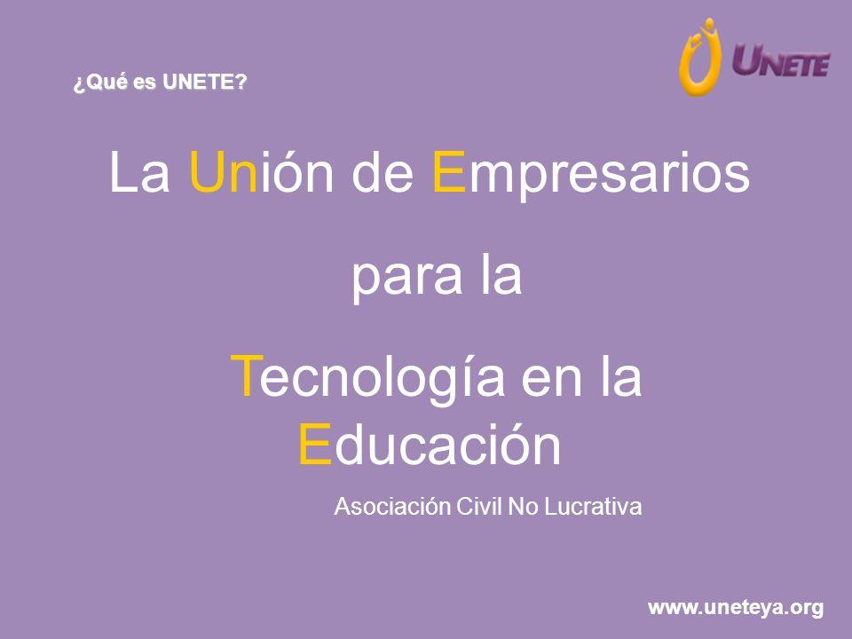 La Unión de Empresarios para la Tecnología en la Educación