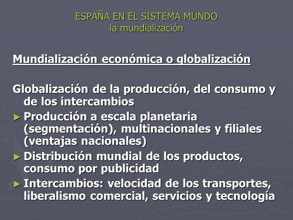 ESPAÑA EN EL SISTEMA MUNDO la mundialización