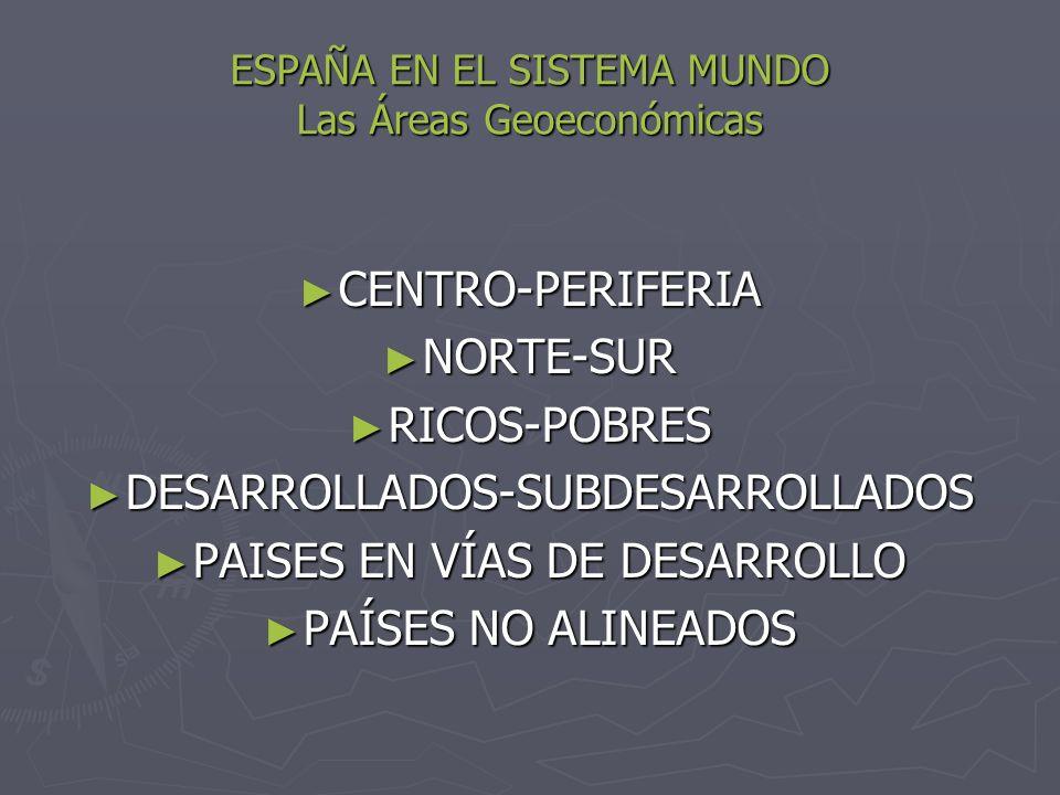 ESPAÑA EN EL SISTEMA MUNDO Las Áreas Geoeconómicas