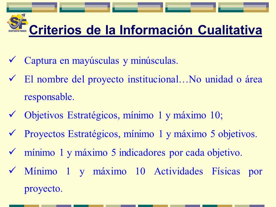 Criterios de la Información Cualitativa