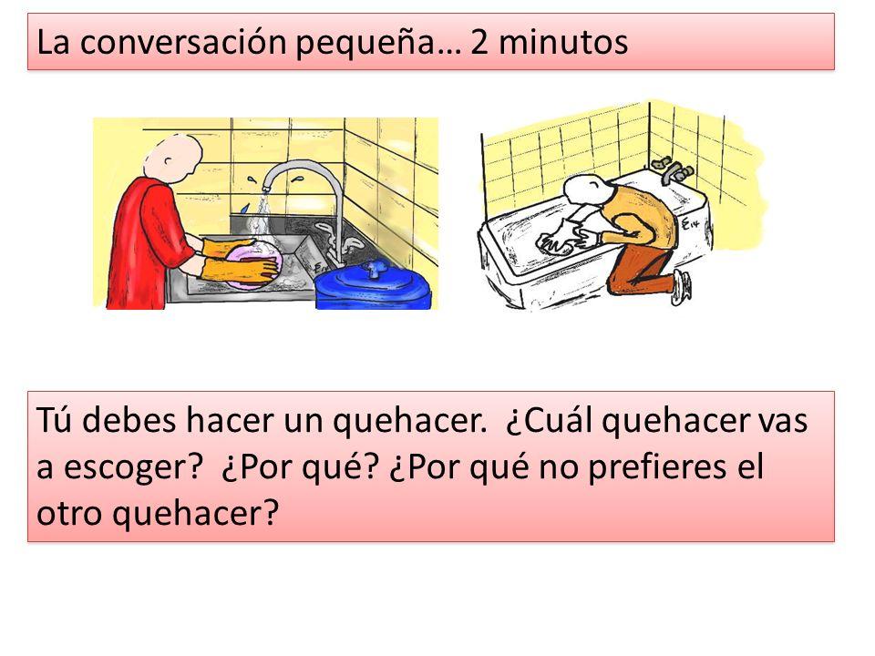 La conversación pequeña… 2 minutos