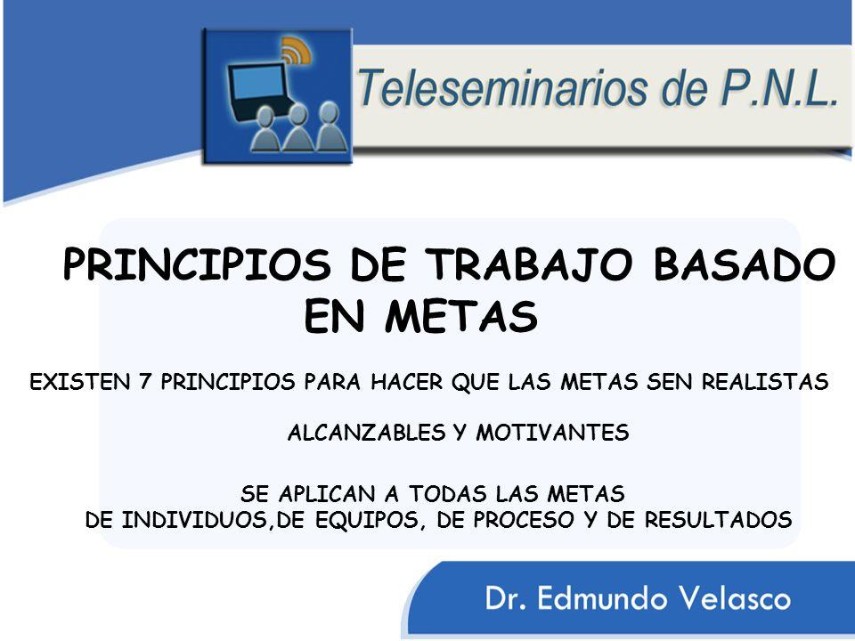 PRINCIPIOS DE TRABAJO BASADO EN METAS