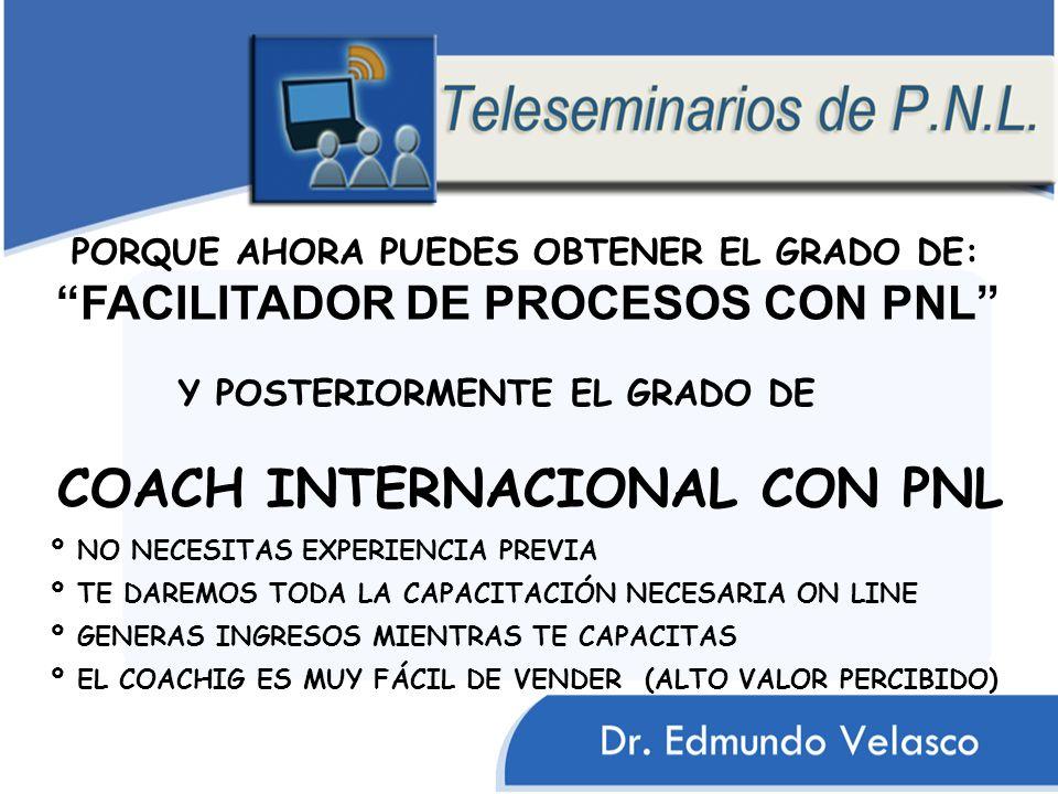 COACH INTERNACIONAL CON PNL