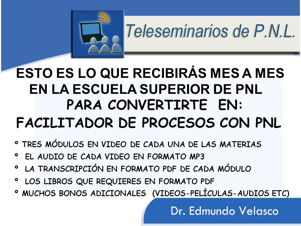 FACILITADOR DE PROCESOS CON PNL